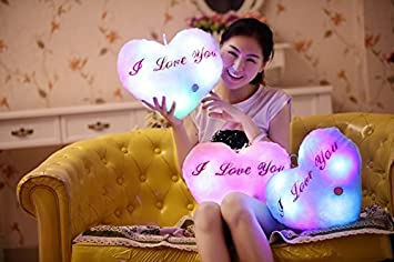 MentorKids 34 cm Soft Stuffed Plush Stars LED Luminous Pillow Toy for Kids (Multicolour)