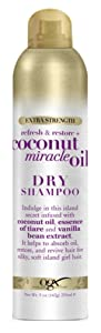 Ogx Shampoo Dry Coconut Miracle Oil 5 Ounce Extra Strength (235ml) (6 Pack)