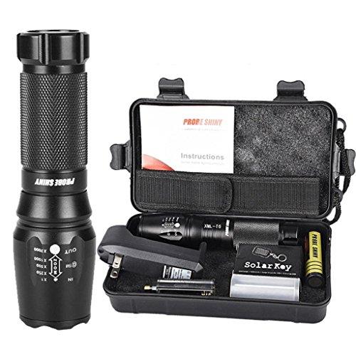 Flashlight Set,VIASA 5000 Lumens G700 X800 LED Zoom Military Grade Tactical Flashlight
