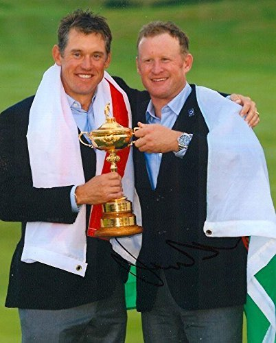 Signed Jamie Donaldson Photo - 8x10 RYDER CUP TROPHY COA - Autographed Golf Photos