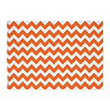 CafePress - Chevron Orange - Decorative Area Rug, 5'x7' Throw Rug