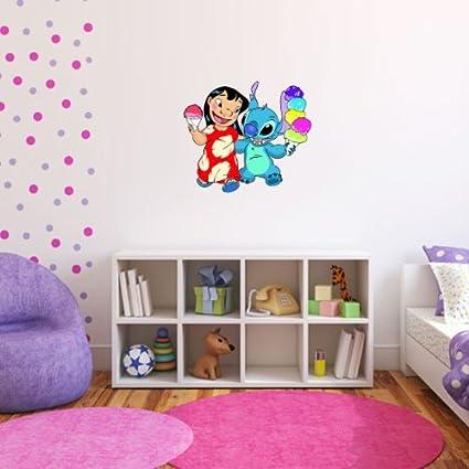 Lilo U0026 Stitch Wall Graphic Decal Sticker 25u0026quot; ...
