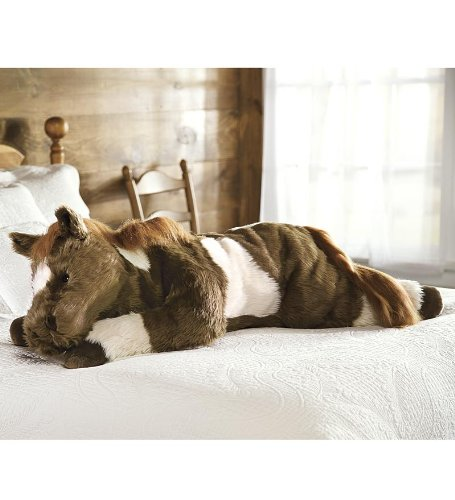 Super Soft Pinto Pony Body Pillow with Realistic Features