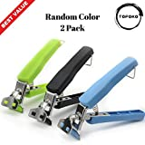 : Topoko Stainless Steel One Hand Gripper Clip for Hot and Cold Plate, Bowl, Dish, Tray. Perfect Accessory for Retrieve from Instant Pot, Microwave, Oven, Pot. Retriever Tongs Random Two Colors Pack