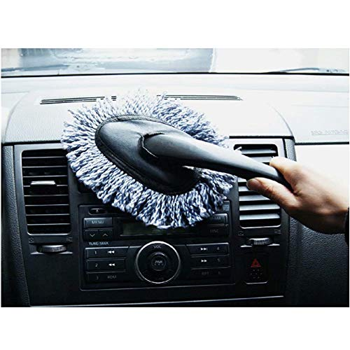 affordable Multi-functional Car Duster Cleaning Dirt Dust Clean Brush Dusting Tool Mop Gray car cleaning products Brand New