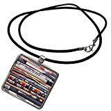 3dRose Danita Delimont - Textiles - USA, NM, Gallup, Handmade Navajo Rugs, Textiles - US32 RTI0081 - Rob Tilley - Necklace With Rectangle Pendant (ncl_92953_1)