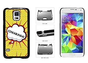 Cowabunga Comic Text Plastic Phone Case Back Cover Samsung Galaxy S5 I9600