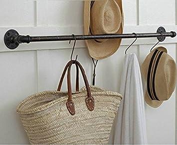 MAIFEINI toalla accesorio de bar para colgar pared en el perchero para sombreros para colgar de pasamanos de hierro forjado Retro creativa Industrial agua: ...