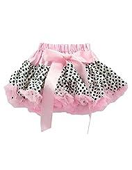 Baby Girls Pink Black Polka Dots Tutu Fluffy Petti skirt 0-12 Years