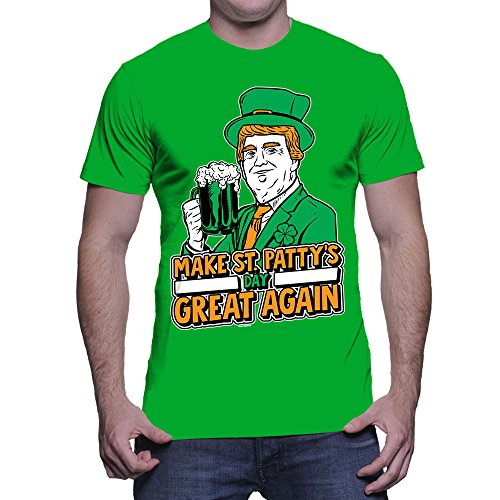 Men's Trump Make St Pattys Day Great Again T-shirt (Kelly,