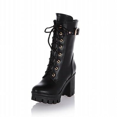 5894b5e7b22 Carol Shoes Womens Fashion Combat Motorcycle Boots
