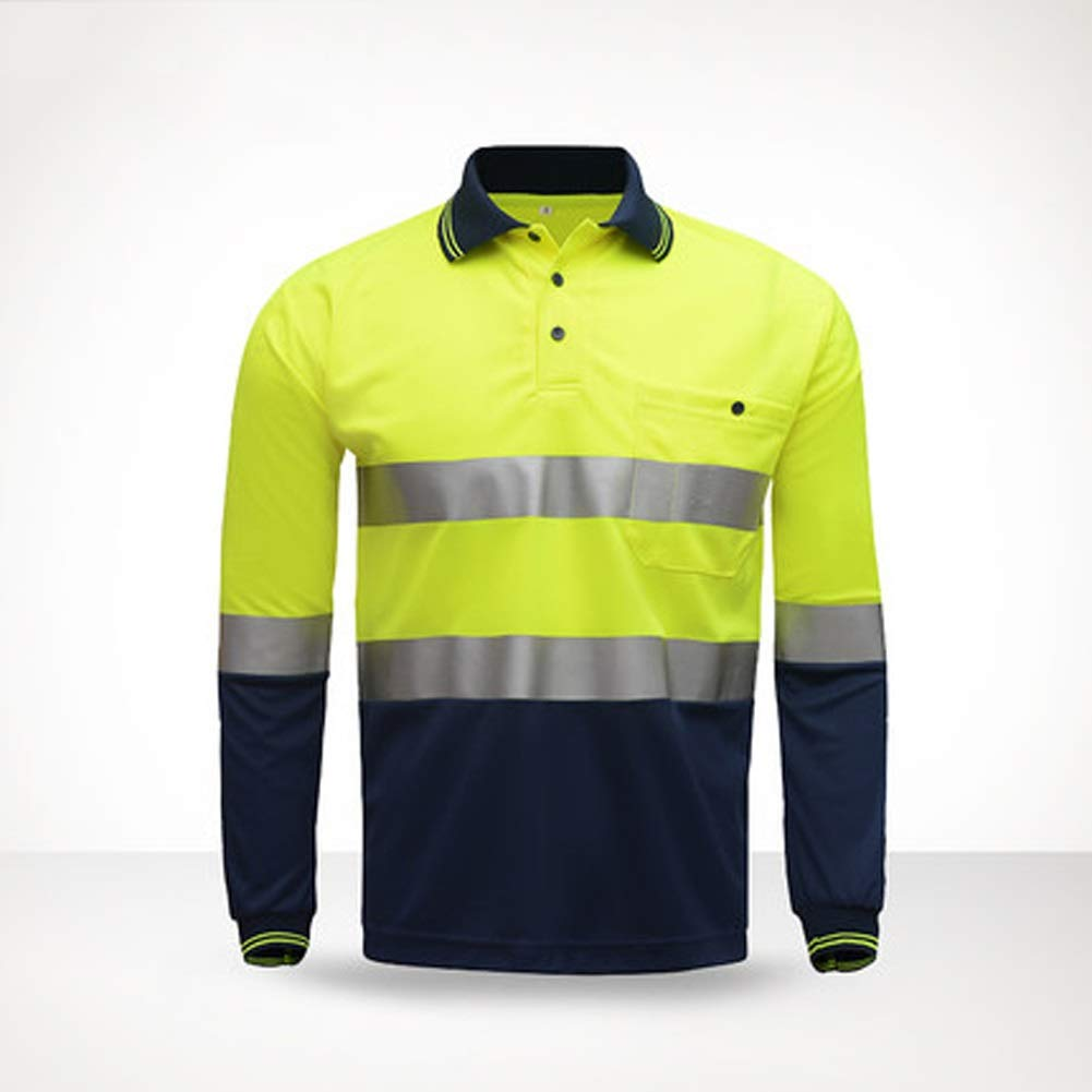 RYYAIYL Working Wear Reflective Shirt,A-Safety, PolyesterHigh Visibility Safety Tee Safety Short Sleeve (Size : M)