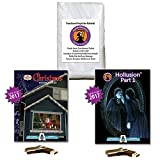 AtmosFEARfx Christmas and Halloween Digital Decorations Kit on USB stick includes Reaper Bros 40'' x 60'' Projection Screen + Christmas Playlist & Hollusion 1 Compilation Videos