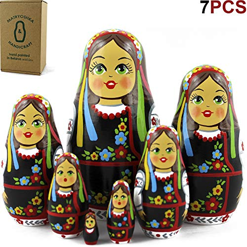 MATRYOSHKA&HANDICRAFT Ukrainian Nesting Dolls 7 Pieces - Ukrainian Gifts - Ukrainian Folk Costume Clothing by MATRYOSHKA&HANDICRAFT (Image #8)