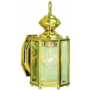 Design House 501833 Augusta 1 Light Indoor/Outdoor Wall Light, Solid Brass