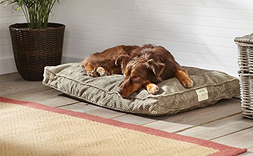 Orvis Comfortfill Platform Dog's Nest / Large Dogs 60-90 Lbs., Brown Tweed Nest Large Bed Cover
