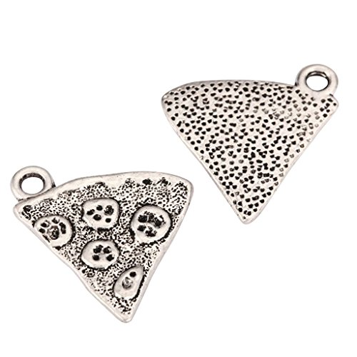 20 x Pizza Charms 19x18mm Antique Silver Tone for Bracelets Necklaces Earrings #mcz1077