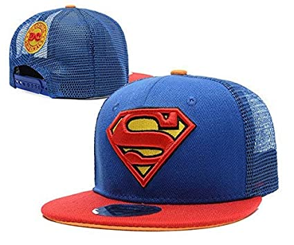 bf649b5ec54 Buy Nimble House ® TMUnisex Kids Fashion Embroidery Superman Featuring Mesh  Back Snapback Hiphop Hat Adjustable Baseball Cap (Color Blue) Online at Low  ...