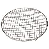 M-Aimee 1Pack Multi-Purpose Round Stainless Steel Cross Wire Steaming Cooling Barbecue Racks/Carbon Baking Net/Grills/Pan Grate with Legs (Diameter 11 Inches)