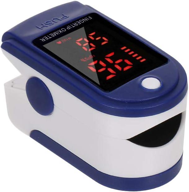 Pulsioxímetro de dedo, saturación de oxígeno en sangre, monitor de SpO2 y PR 8S, medición rápida, medidor de frecuencia del pulso para viajes deportivos en casa