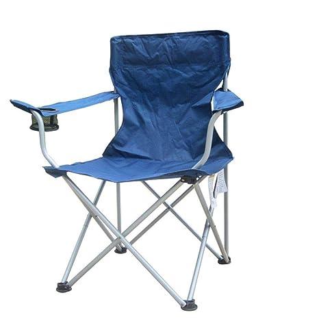 Silla Plegable para Acampar portátil al Aire Libre Cómodo ...