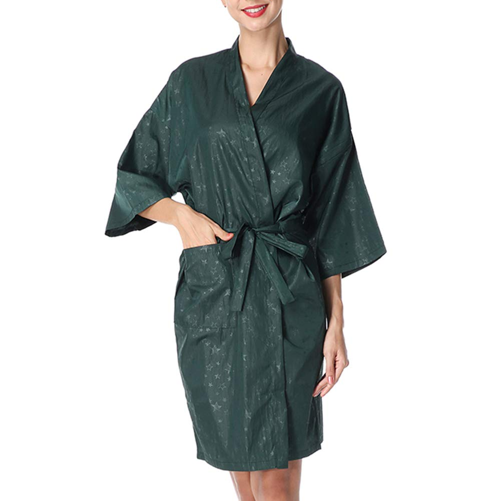 PLAFUETO Hair Stylist Grooming Smocks Haircut Cape Salon Client Gown Robe Color Smock Barber Apron Jacket for Hair Salon Dog Groomers Nail Tech Massage Therapist Beauty SPA by PLAFUETO