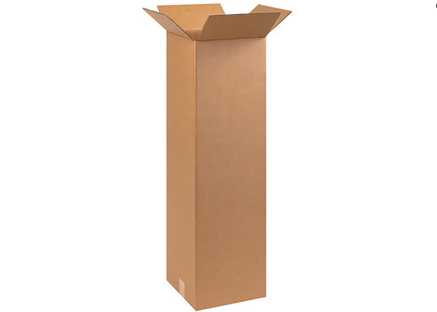 for Moving Boxes Fast BF101038 Tall Cardboard Boxes Pack of 25 10 x 10 x 38 Shipping Packing or Storage Kraft Single Wall Corrugated