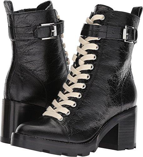 Marc Fisher LTD Women's Waren Black/Sena Crinkle Leather 7.5 M US