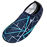 VonVonCo Men's Striped Beach Shoes Swimming Diving Socks Drifting River Wading Shoes Navy