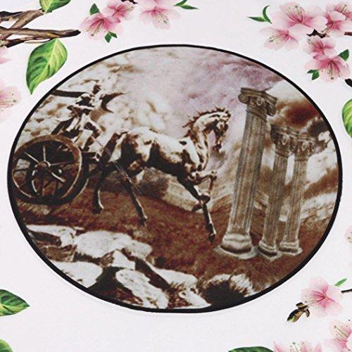 maniche corto da donna boho donna corte abito lunghi C estate estate a vintage Sysnant Vestiti stampato Mini Xxzpzq
