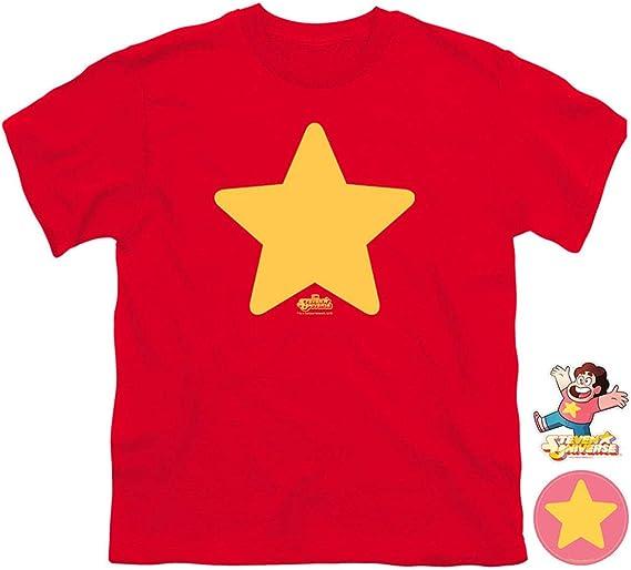 Steven Universe Star Cartoon Network Camiseta y Pegatinas para jóvenes - Rojo - X-Large: Amazon.es: Ropa y accesorios