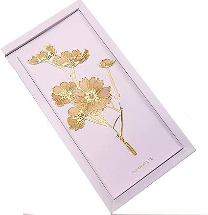 Segnalibri Fiore di felicit/à Gesanghua metallo dorato Bookmark Stile creativo cinese classico