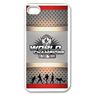Buy 1 iPhone 4,4S Phone Case Boston Red Sox Get 1 iPhone 4,4S Tempered Glass Screen Protector Free I382943