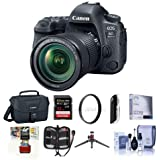 Canon EOS 6D Mark II DSLR with EF 24-105mm f/3.5-5.6 IS STM Lens - Bundle With 32GB SDHC U3 Card, Camera Case, Table Top Tripod, Cleaning Kit, 77mm UV Filter Memory Wallet, Mac Software Package, More