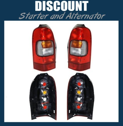 This Is A Brand New Aftermarket Pair Rear Break Tail Light Tail Lamp Taillight Taillamp That Fits A 1997 1998 1999 2000 2001 2002 2003 2004 2005 97 98 99 00 01 02 03 04 05 Chevrolet Venture Pontiac Montana Trans Sport Oldsmobile Silhouette Passenger Driver Side Right Left Hand RH LH Amber Red Clear Plastic Lens OE Replacement DOT SAE Approved 10353280 10353279 GM2801134 GM2800134