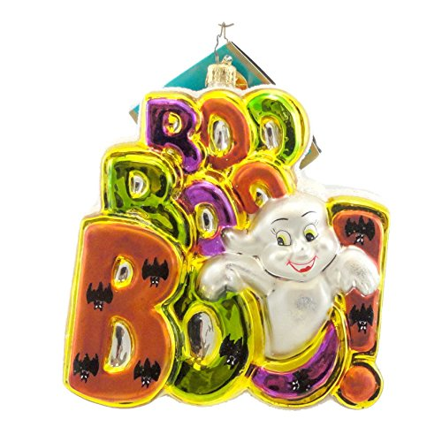 Christopher Radko TRIPLE TREAT Blown Glass Ornament Halloween Cookie Iced -
