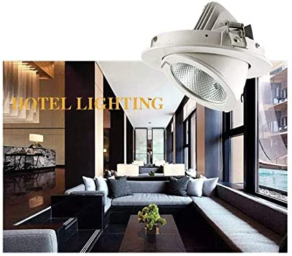 Energy Class A+ OUUED LED Recessed Ceiling Spotlights Ultra-Thin 7W 220V Warm White 3000K Beam Angle 120/° Spotlight Downlight Lighting for Bathroom Living Room Kitchen