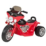 Ride on Toy, 3 Wheel Mini Motorcycle Trike for Kids, Battery Powered Toy by Hey! Play! – Toys for Boys and Girls, 2 - 5 Year Old - Police Car Red