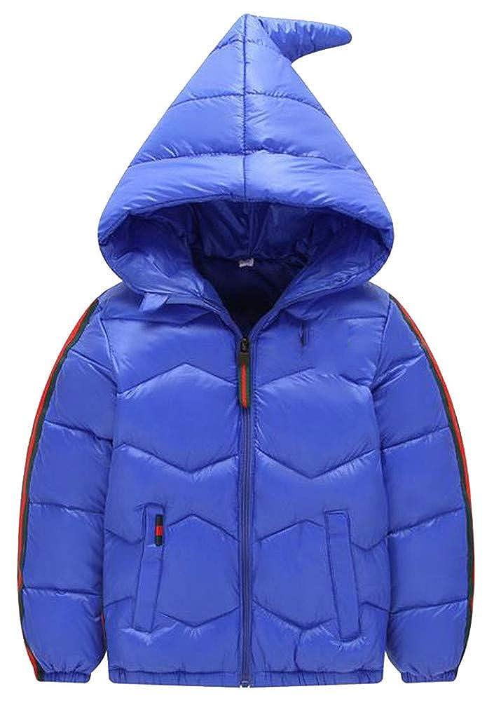 P/&E Boy Hoodid Down Warm Quilted Pocket Zipper Jacket Parka Coat