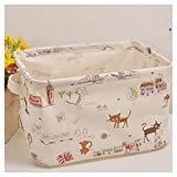 Storage Basket Storage Bin for Kids for Baby for Toys with Handles Cotton Fabric Collapsible (10.6 x 8.3 x 6.7inch)ASAPS