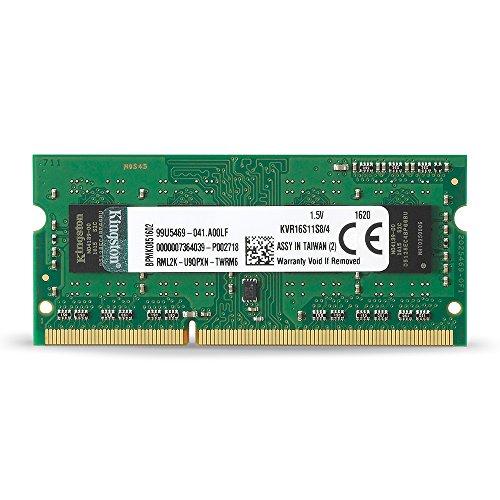 Kingston KVR16S11S8/4 Arbeitsspeicher 4GB (DDR3 Non-ECC CL11 SODIMM 204-pin, 1.5V)