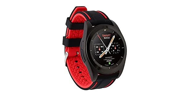 Amazon.com: Smartwatch WristWatch Fitness Tracker Pedometer Bluetooth For IOS Android Men - Black Double Color, Language Pack C: Cell Phones & Accessories