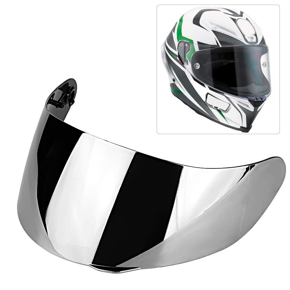 Placcato argento Alinory casco lente visiera moto casco antivento casco lente visiera scudo completo per agv k1 k3v k5