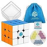 D-FantiX Gan 354 M 3x3 Speed Cube Stickerless Gans 3x3 Magnetic Cube Puzzle