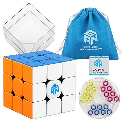 D-FantiX Gan 354 M 3x3 Speed Cube Stickerless Gan 354M Gans 3x3 Magnetic Cube Puzzle Toys