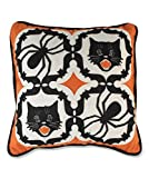 Halloween KALEIDOSCOPE PILLOW NA3580 Black Cat Spider Bats