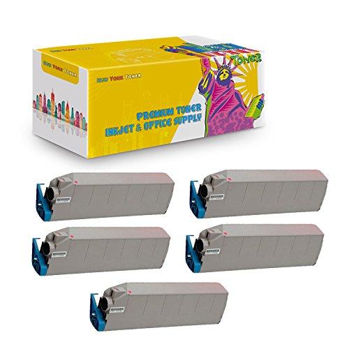 Toner C9400 Magenta (New York TonerTM New Okidata 5 Pack Okidata 41515206 High Yield Toner For OKI : C9400dxn | C9400. --Magenta)
