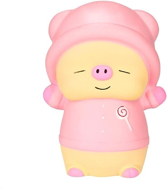 Fuibo Kawaii Dibujos Animados Rosa Piglet Squishy Lentamente ...