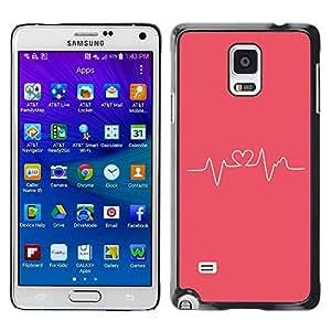 TopCaseStore / la caja del caucho duro de la cubierta de protección de la piel - Pink Love Doctor Medical - Samsung Galaxy Note 4 SM-N910F SM-N910K SM-N910C SM-N910W8 SM-N910U SM-N910