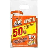 Limpador Cozinha Total Pack Gatilho 500 ml e Refil 500 ml, Mr. Músculo, pacote de 2